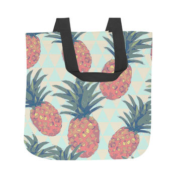 Low Poly Pineapples Tote Bag