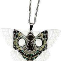 CREEP HEART SKULL MOTH NECKLACE