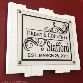 Family Established Sign Personalized Family Sign Last Name Sign Plaque