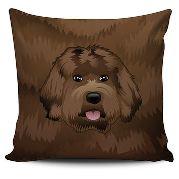 Real Labradoodle Pillow Cover
