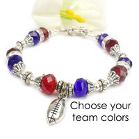 College Football Bracelet: School Spirit Jewelry