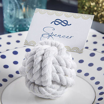 Nautical Cotton Rope Place Card Holder (Set of 30)
