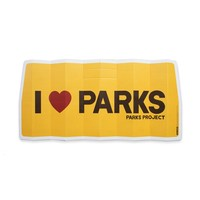 I Heart Parks Car Sunshade