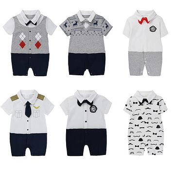 Boys cotton Baby clothes toddlers bow tie baby clothes tender for little boys
