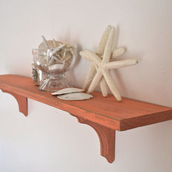 Coral Large Distressed Shelf