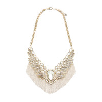 Tara Embellished Wing Necklace - Forever New
