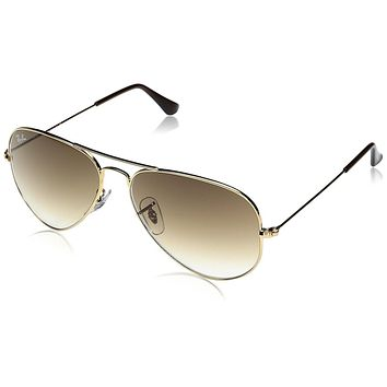 Ray-Ban Women's Polarized Aviator RB3025-001/57-55 Gold Aviator Sunglasses