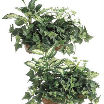 2 Artificial Mixed Plants - Potted