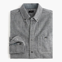 J.Crew Mens Tall Cotton-Wool Elbow-Patch Shirt In Glen Plaid
