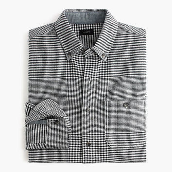 J.Crew Mens Slim Cotton-Wool Elbow-Patch Shirt In Glen Plaid