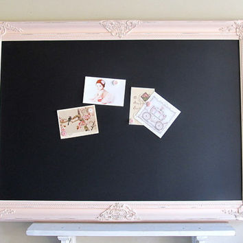 Pink FRAMED CHALKBOARD Wedding Seating Chart Wedding Escort Card Holder Playroom Girls Chalk Board Menu Shabby Chic Distressed 30inx42in
