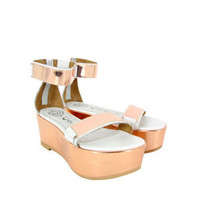 JEFFREY CAMPBELL WOMEN'S LARS SHOES - WHITE GOLD
