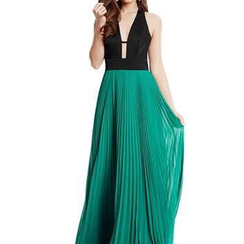 Saravia Pleated Maxi Dress | GUESS by Marciano