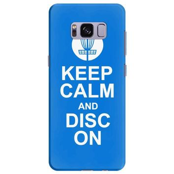 keep calm and disc golf on target frisbee basket Samsung Galaxy S8 Plus