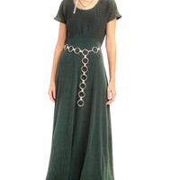 Vintage 90's Forest Fairy Slinky Maxi Dress - S/M/L