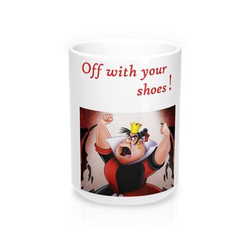 Mug 15oz with Alice in Wonderland Queen of Hearts Art Print