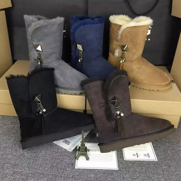UGG Women Fashion Winter Snow Boots Half Boots Shoes-2