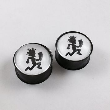 Hatchet Man double flair plugs titanium (1 Pair) Different Sizes Available