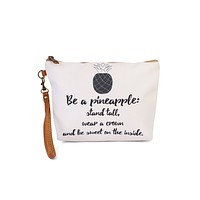 """Be a Pineapple"" Wristlet Makeup Pouch"