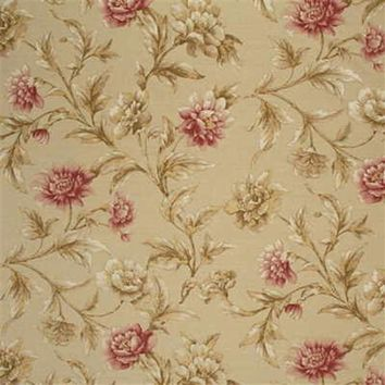 Mulberry Fabric FD252.K65 Gilded Peony Linen/Pink