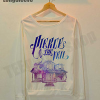 Pierce the Veil Space Shirt Vic Mike Fuentes Shirts Long Sleeve Off White Women Free Size