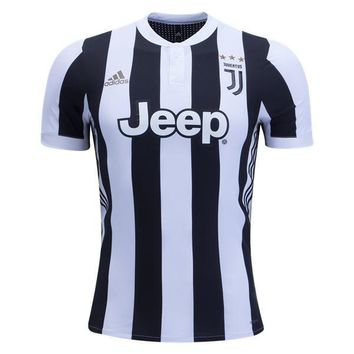 KUYOU Juventus 2017/18 Home Match Men Soccer Jersey Personalized Name and Number