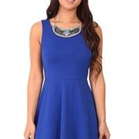Blue Skater Dress at Blush Boutique Miami - ShopBlush.com