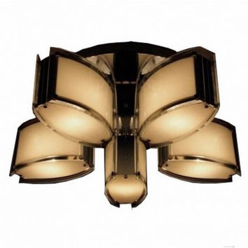 5 light euro modern concise bedroom dinning room balcony glass ceiling lamp light