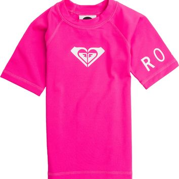 ROXY TODDLER WHOLE HEARTED SS RASHGUARD