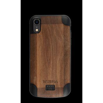 Wooden iPhone Xr Battery Charging Case
