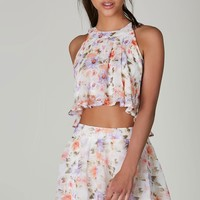 Spring Field Printed Crop Top