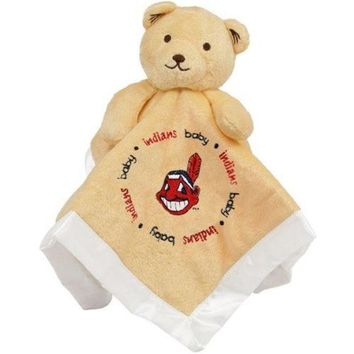 LMFHJ2 Baby Fanatic Snuggle Bear Ball Blanket Cleveland indians