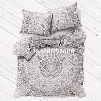 Hamsa Hand Art Gypsy Cotton Queen Size Duvet Cover Throw Bohemian Quilt Cover