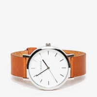The Horse Silver/ Tan Band Watch