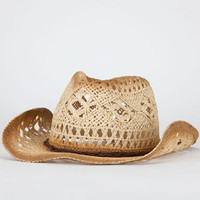 Open Weave Braided Suede Womens Cowboy Hat
