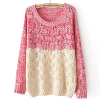 A 082009 Loose round neck long-sleeved pullover