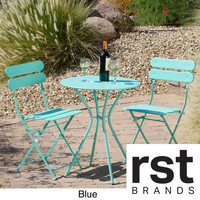 RST Brands 'Sol' 3-piece Outdoor Bistro Set | Overstock.com Shopping - The Best Deals on Bistro Sets