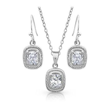 Montana Silversmith ~ Squarely Brilliant Wrapped Jewelry Set