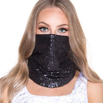 Mini Sequin Mask Bandana