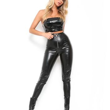 Buy Our Winonna Pant in Patent Black Online Today! - Tiger Mist