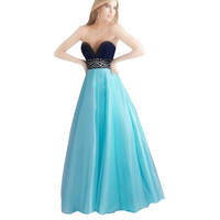 Long Party Dress Elegant Strapless Padded Ball Gown Women Dresses Prom Gown Dress Evening Maxi Dress