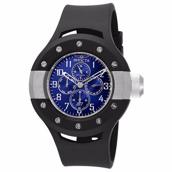 INVICTA 17390 MEN'S S1 RALLY BLUE DIAL BLACK SILICONE BAND STAINLESS STEEL CASE CHRONOGRAPH WATCH