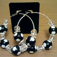 Love and Hip Hop and Basketball wives inspired hoop with black and white beads