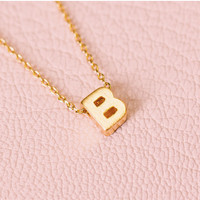 Be Yourself Initial Necklace - B
