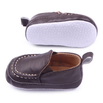 PU Leather Baby Shoes Toddler Moccasins Infant Baby First Walkers Shoes Newborn Boy Soft Shoes NW