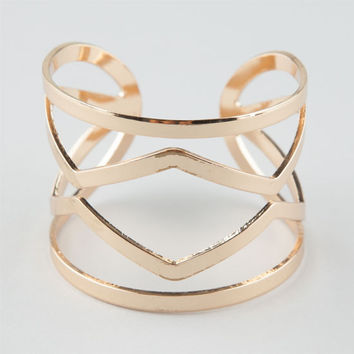 Full Tilt Clean Geo Cuff Bracelet Gold One Size For Women 26407762101