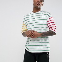 ASOS Oversized T-Shirt With Contrast Stripes at asos.com