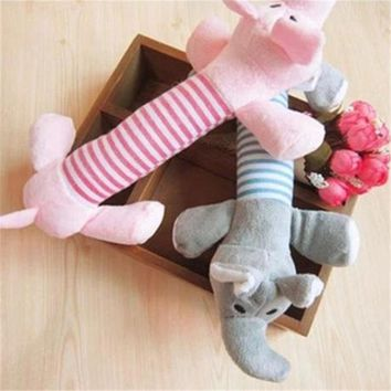 1PC Pet Puppy Dog Chew Sound Squeaky Plush Sound Duck Toys Funny Soft Pets  Duck Pig Elephant Animal Toys MYDING