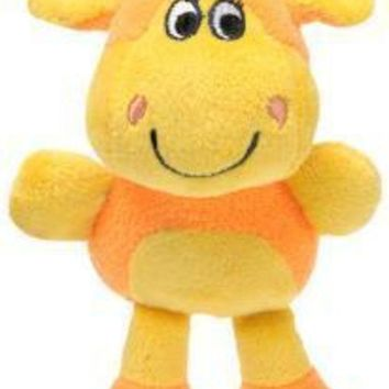 LMFYN5 Knight Pet Runtzees Rainbow Plush Orange Giraffe Gertrude Small Dog Toy