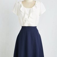 Mid-length Short Sleeves A-line Radio Drama Darling Dress by ModCloth